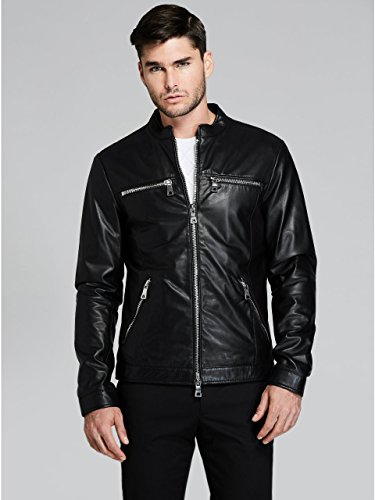 GUESS by Marciano Men's Everyday Leather Moto ()