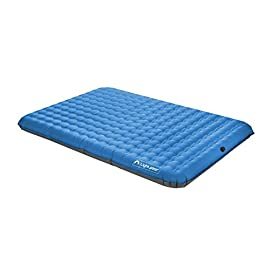 Lightspeed Outdoors 2 Person PVC-Free Air Bed Mattress for Camping and Travel 58 Temperature stable, abrasion resistant, and durable Free-Flowing Boston valve for easy inflation and deflation Made from eco-friendly TPU - free of harmful phthalates