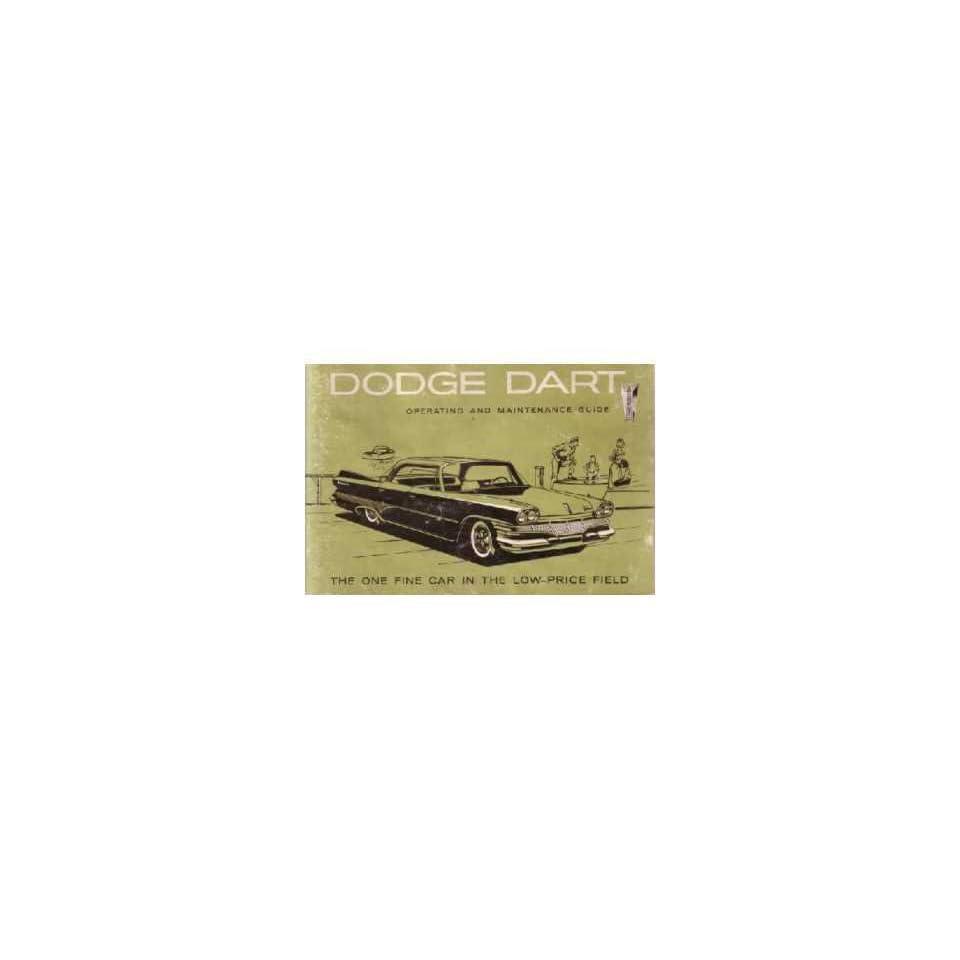 1960 DODGE DART Owners Manual User Guide