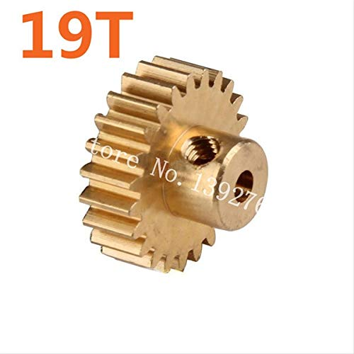 Hockus Accessories 11179 Motor Gear 19T Metal Brass Pinion RC Parts for 1/10 Electric Off Road Buggy 94107 Pro XSTR Hobby