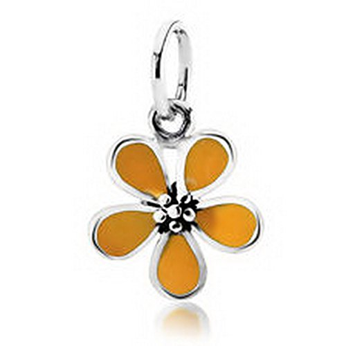 Burts Beads - authentic S925 sterling silver cherry blossom charm dangle fit European bracelet NJOY13132 - Blossom Dangle