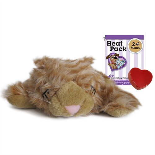 Snuggle Pet Products Snuggle Kitties Behavioral Aid Toy for Pets, Tan Tiger, My Pet Supplies
