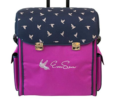 Eversewn Sewing Machine Navy/Pink Rolling Tote by Ever Sewn