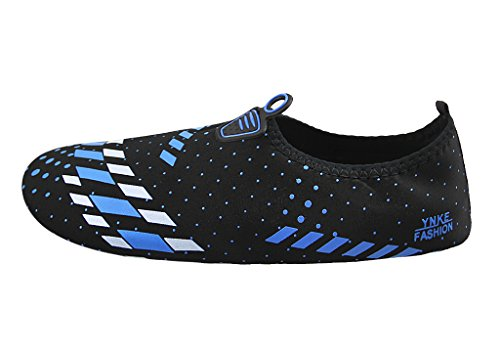 Barefoot Water Shoes Couple Pool Skin Shoes Gym Sports Yoga Aqua Shoes Sand Socks for Beach Pool Swimming Diving Surfing Yoga Exercise Aerobics B