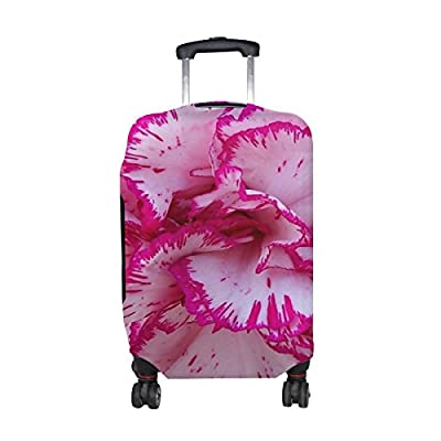 91b269cde535 durable service Plants Flower Carnation Pattern Print Travel Luggage ...