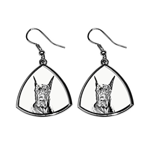 Great Dane Earring - Great Dane cropped, collection of earrings with images of purebred dogs, unique gift