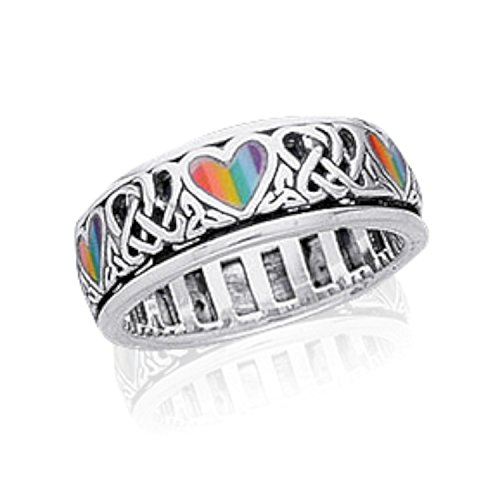 view on amazon - Rainbow Wedding Rings