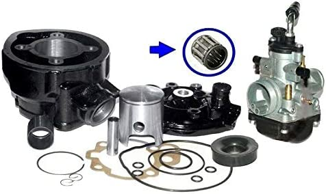 UNTIMERO RACING 70cc CYLINDER CARBURETTOR KIT compatible with YAMAHA TZR50 TZR 50 AM6 BLACK
