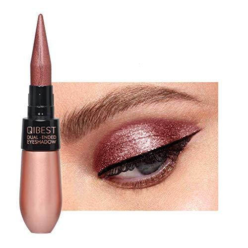 AmyDong Double-end Metallic Shiny Smoky Eye Shadow Waterproof Glitter Liquid Silky Eyeliner Soft Eyeshadow]()