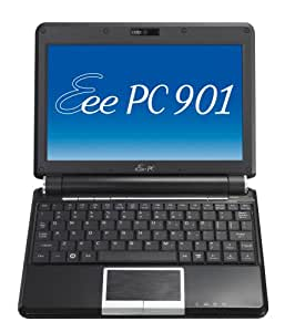 ASUS Eee PC 901 8.9-Inch Netbook (1.6 GHz Intel Atom N270 Processor, 1 GB RAM, 20 GB Solid State Drive, 20 GB Eee Storage, Linux, 6 Cell Battery) Fine Ebony