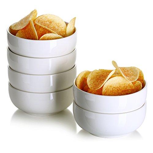 Cream Cereal Bowl (Lifver 12oz Porcelain Dessert Bowls/Cereal Bowl/Soup Bowl Set, Set of 6)