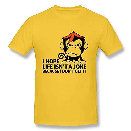 MAD Men's Tees Monkey Banana Size S Yellow