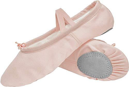 JOINFREE Ballettschuhe Gymnastikschuhe Ballettschläppchen Ballerinas Tanzschuhe für Mädchen Kinder Damen