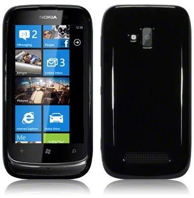 MicroSpareparts Mobile Click-On Cover - Solid Sort Nokia Lumia 610, MSPP2462 (Nokia Lumia 610) (Nokia 610 Cover)