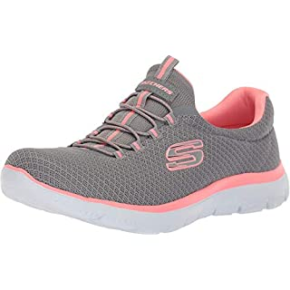 Skechers Sport Women's Summits Sneaker,grey/pink,6 W US