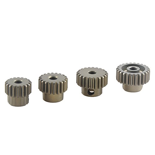 Gear Pinion Set (RCRunning 18T 20T 22T 24T (48DP) 3.175mm Shaft Motor Pinion Gear Combo Hardening for 1/10 RC Car Brushless/Brushed Motor)