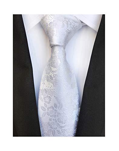 Men's Pure White Silk Cravat Woven Ties Textile Business Neckties for ()