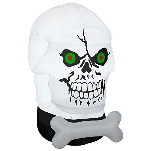 Gemmy Airblown-Gotham Skull-OPP