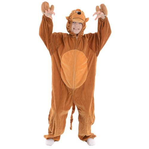 Kids Animal Boogie Woogie Monkey Fancy Dress Costume Large 7-8 years [Toy] by Wicked
