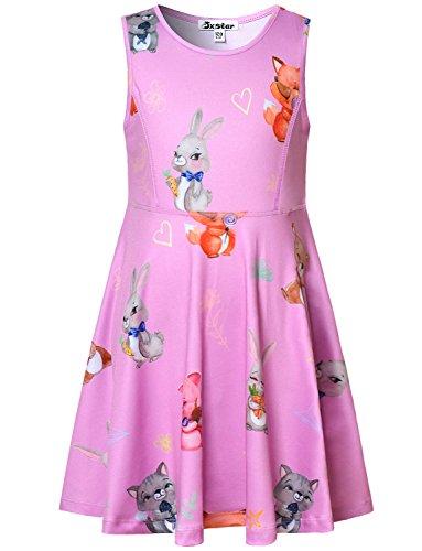 Summer Dress Girls Unicorn Casual Rainbow Candy Teens Birthday Party Cute Blue -
