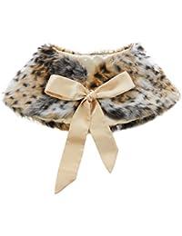Flower Girls Faux Fur Wedding Shawl Wrap Stole Princess...