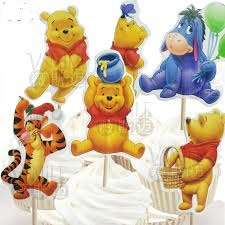 Disney Winnie The Pooh Dessert Muffin Cupcake Toppers for Wedding Baby Shower Birthday Party (Pack of 24)]()