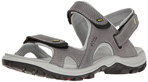 ECCO Women's Offroad Lite Athletic Sandal, Titanium/Concrete, 41 EU/10-10.5 M US by ECCO