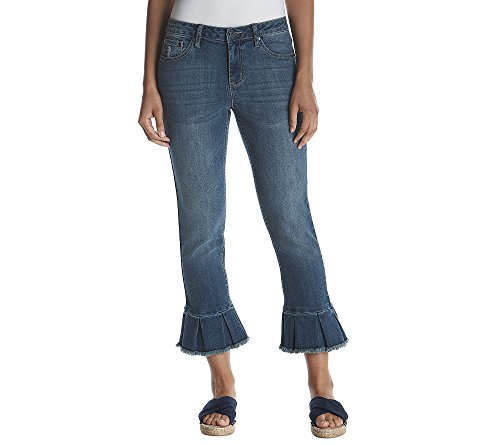 Earl Jean Ruffle Hem Capris 6 for sale  Delivered anywhere in USA