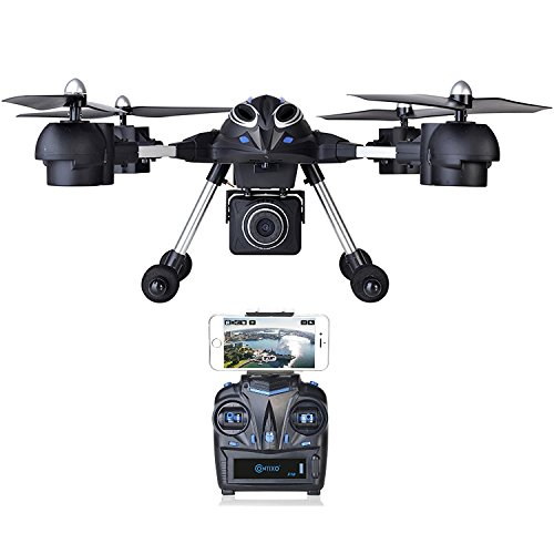 BLACK FRIDAY DEAL! Contixo F10++ Quadcopter RC Drone 720P HD Wifi FPV Video Camera Altitude Hold Headless Mode 4 Channel 2.4GHz 6 Axis Gyro 360° Stunts RTH GoPro HERO Action Camera Compatible by Contixo