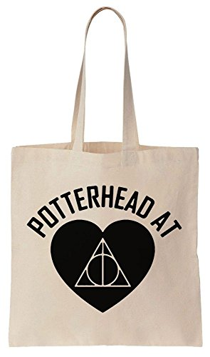 Potterhead At Heart Design Sacchetto di cotone tela di canapa