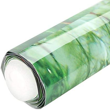Cartel de Fondo de Tanque de Peces de Acuario Papel Adhesivo de PVC Decoración Papel Verde Agua Estilo Acuático como Real 6