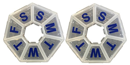 Ezy Dose 7-day 7-sided Pill Reminder, Size Medium (Pack of 2)