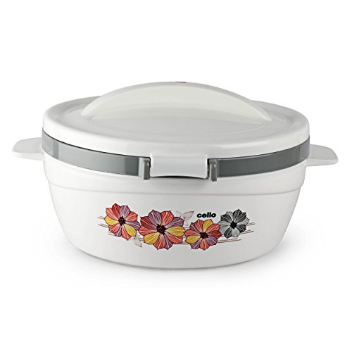 Cello Flip Top Plastic Casserole with Lid, 850ml, White/Grey Price & Reviews