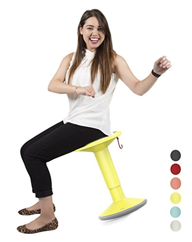 Stand Steady Active Motion Stool Wobble While You Work Premium Ergonomic Stool Ergonomic Office Chair for Comfort Back Pain Relief – Made in Germany Yellow