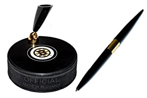 Boston Bruins Autograph Series Hockey Puck NHL Desk Pen Holder