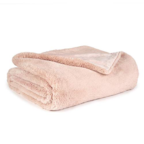 (Sleeping Partners Super Soft Double Layer Faux Fur Blanket, 50