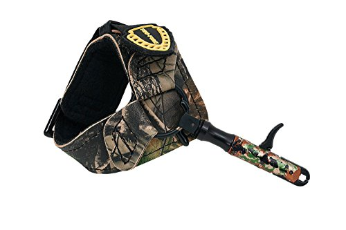TruFire Edge Buckle Foldback Adjustable Archery Compound Bow Release - Camo Wrist Strap with Foldback Design (Best Bow Trigger Release)