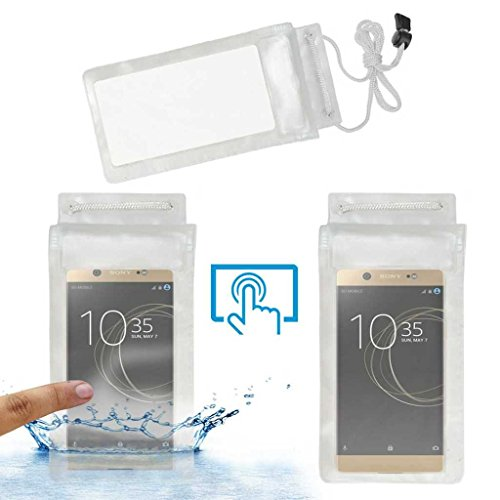 Acm Waterproof Bag Case Compatible with Sony Xperia Xa1 Ultra Dual Sim Mobile  Rain,Dust,Snow  amp; Water Resistant  Transparent