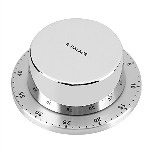 - Kitchen Cooking Timer, Stainless Steel Mechanical Manual Magnetic Cooking Countdown Clock, Fanshu 60 Minutes Reminder With Loud Ring Alarm Multifunctional Home Tool Gadget, Loud Alarm (Silver)