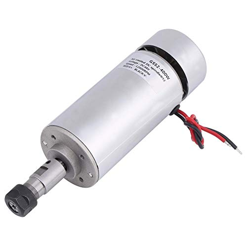 Main Spindle - Spindle Motor, 48V 400 W Suitable for Carving PCB Acrylic Drilling The Main Spindle with Forced Air Cooling Work Long Hours with High Torque 500mN.m.