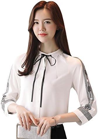 XXIN Camisetas De Manga Corta Mujer Camiseta Pequeña 7 Mini Pajarita con Camisa Blanca,L,: Amazon.es: Deportes y aire libre