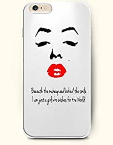 iPhone Case, SevenArc iPhone 6 (4.7) Hard Case **NEW** Case with the Design of beneath the makeup and behind the smile...