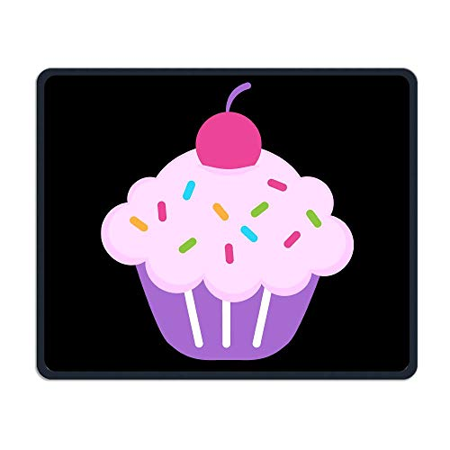 Mouse Pad Cute Cupcake Funny Art Rectangle Rubber Mousepad Length 8.66 Width 7.09 Inch Gaming Mouse Pad with Black Lock Edge