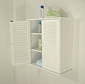 Amazon.com: Homecharm-Intl 23.6x9.1x24-Inch Wall Storage Cabinet,2 ...