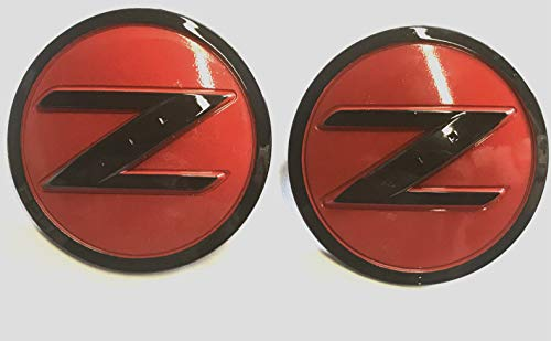 Nissan 350z Emblem - Armertek N-FDZR Pair of 2 350Z 370Z Fairlady Z Z33 Z34 Z Side Red Black Fender Emblem Badges for Nissan Replaces 63890-CD10A