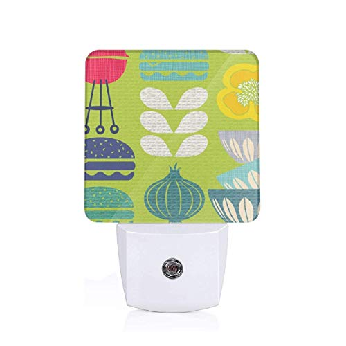 (Retro Summer Cookout Large Scale_29938 Plug-in LED Night Light Lamp with Light Sensor, Auto On/Off, Energy Efficient)