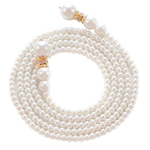 earl Necklace Charm Pendant Necklace Beads Pendants Cluster Necklace for Women Golden Plastic ()