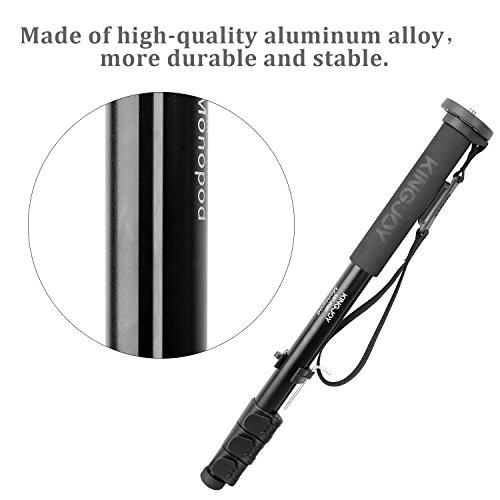 Aluminum Camera Monopod, Kingjue 4-Section Flip Lock Professional Monopod for Canon Nikon Sony DV Digital Cameras & Camcorders