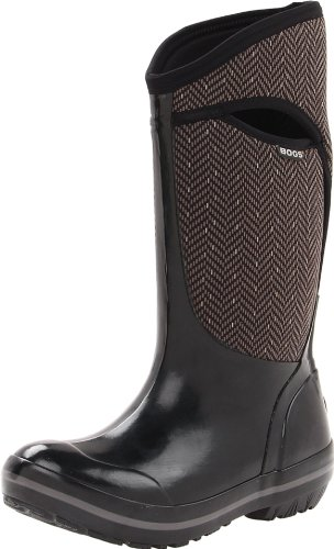 Bogs Women's Plimsoll Tall Herringbone Waterproof Insulated
