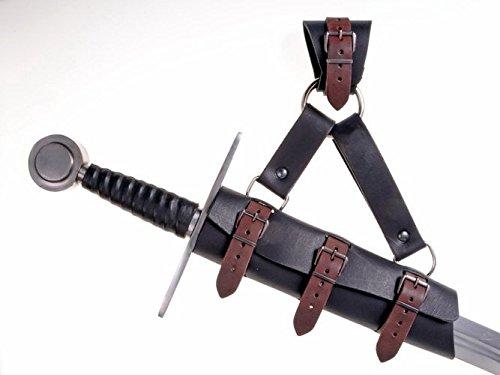 Larp de espada gehänge con anillo en la estilo medieval de piel, 04 SSG 3s, Negro: Amazon.es: Deportes y aire libre